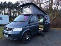 Fully converted VW camper van.