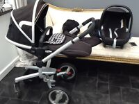Silver cross surf Pram in black with carseat