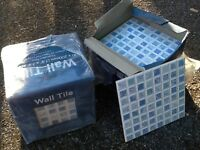 Blue patterned wall tiles