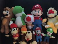 Super Mario plush bundle. Excellent condition from a pet/smoke free home