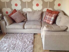 NEXT home corner sofa. Fabric guarantee. Immaculate condition. 2 years old.