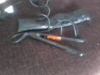 Narrow Hair straighteners in as new condition with carry/storage case
