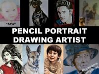 Pencil Portrait Drawing Artist - Pets and People from your own photos