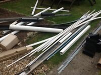 Job lot of pipe and guttering