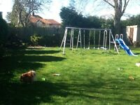 Childs swings and slide set. Free to good home