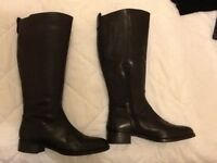 Faith long black riding style boots size 6