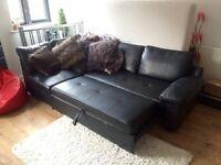 Black Corner Sofa Bed