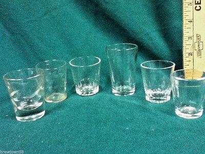 Unique shot glasses  6 clear glass plain shots shooters barware glassware AX1