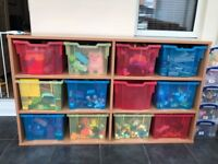 Childrens Storage Unit from Hope Education with coloued boxes