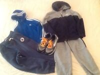 Boys casual wear - Nike, Adidas and Converse clothes and shoes age 9/10