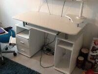 White computer desk or office desk