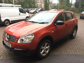 07 PLATE NISSAN QASHQAI VISIA, 1.6 PETROL, LADY OWNER, 79K , FULL SERVICE HISTORY, 12 MONTHS MOT,