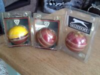 3 brands new boxed cricket balls size 5 1/2
