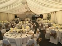 Hessian Chair Bows and Table Runners