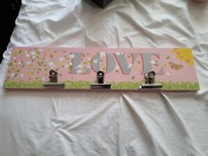 Brand new Love home decore sign with clips