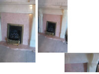 GIVE ME A CALL OR TEXT FIRST PLEASE SOLID MARBLE FIREPLACE WITH GAS FIRE ALL FULLY WORKING