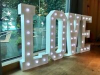 4ft LOVE light up letters