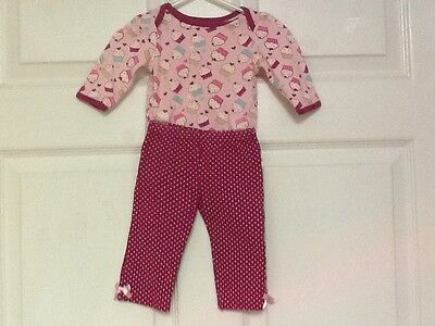 Gum Balls two piece baby girls outfit size 3 months pink purple 114 (Pink Gum Balls)