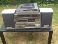 JVC HIFI Stacking Units including Aiwa Turntable and speakers