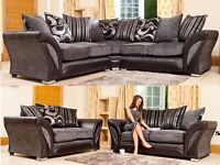 SPECIAL PROMOTION 3+2 SEATER/CORNER SOFA SUITE DFS SHANNON & CUDDLE CHAIR