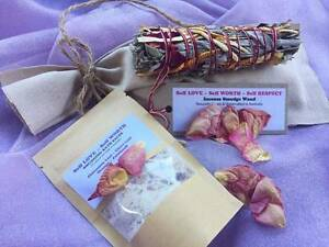 SPECIAL OFFER  SELF LOVE gift pack Incense SMUDGE STICK Bath SALT Penshurst Hurstville Area Preview