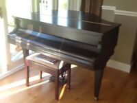Challen English made Baby Grand Piano and stool.