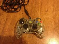 xbox 360 game pad after glow Green