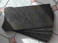 SET OF 9 BRAND NEW TILES - CHARCOAL/BLACK SLATE EFFECT