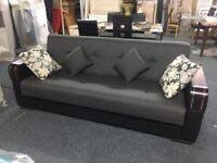 NEW IMPORTED MALTA 3 SEATER STORAGE SOFA BEDS