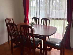 7 Piece Wood Dinning Table Set St Clair Penrith Area Preview
