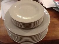 Dinner plates and side plates