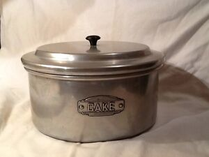 Vintage Waratah Brand Large Cake Canister New Lambton Heights Newcastle Area Preview