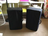 HZ Z500 PA Speakers with Covers