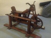 Hand Built One-Off Wooden Rocking Motorcycle