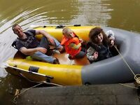 HD inflatable dinghy boat RIB/Tender, Achilles 430kg max capacity (kids not included)