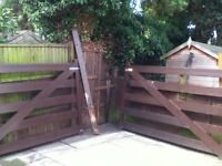 Double five bar gate with posts