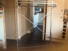 Ornate metal clothes rail