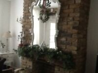 Shabby chic huge mirror