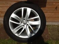 Alloy wheel and tyre and space saver
