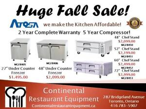"""Chef Base 48"""" Refrigerated Brand New Atosa"""