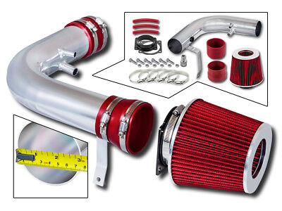 BCP RED 97-03 Ford F150/Expedition 4.6/5.4L V8 Air Intake Racing System + Filter