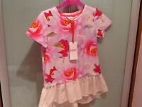 Ted baker pink floral top, age 8/9, new