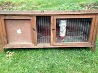 Guinea pig/rabbit hutch cage with guinea pig house and water fountain