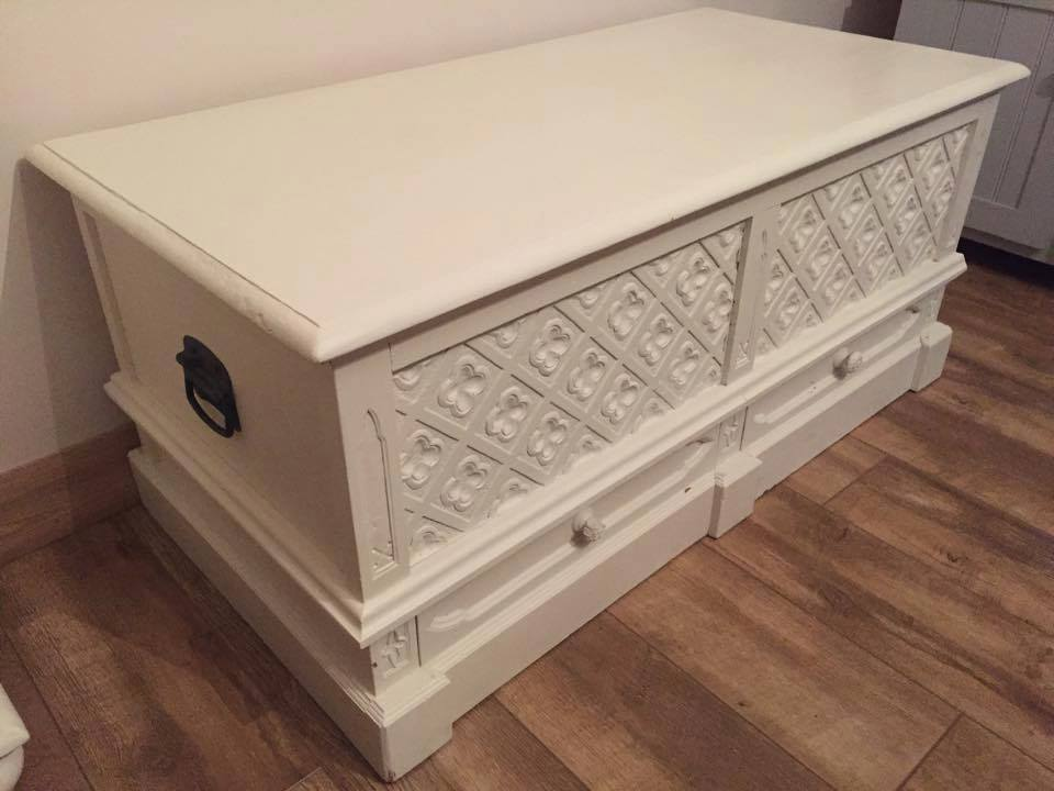 SHABBY CHIC CHEST TRUNK FRENCH STYLE OTTOMAN LINEN BLANKET BOX PINE OAK WOODEN STORAGE DRAWERS