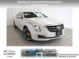 2015 Cadillac ATS COUPE AWD TURBO PERFORMANCE CUIR ROUGE WOW!
