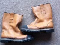 Mens size 8 steel toe safety boots