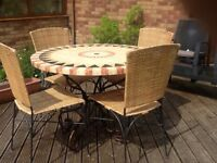 John Lewis mosaic table and 4 chairs. Good condition