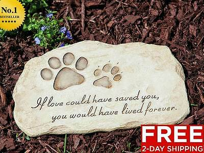 NEW MEMORIAL GRAVE MARKER HEADSTONE GARDEN YARD PET PAW DOG CAT EXCLUSIVE DESIGN