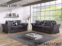 SALE ON FABRIC SOFAS AVAILABLE NOW.. 3+2 OR CORNER IN FELIX AND DINO