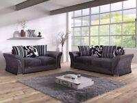 BRAND NEW SHANNON FABRIC SOFA NOW ON SALE 3+2 OR CORNER